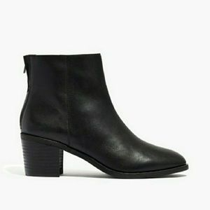Madewell The Pauline Leather Ankle Boot